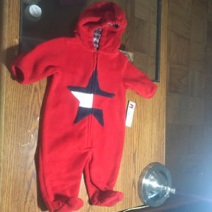 Tommy Hilfiger red fleece outerwear OS NWT